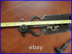 Antique Wrought Iron Sliding Bolt/Lock Plank Door ornate Latch Lock STEEL retro