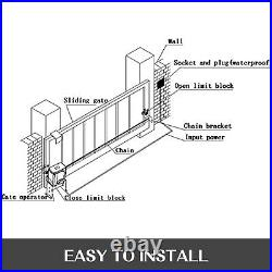 Automatic Electric Hardware 1800lbs Sliding Gate Opener Door Operator Kit