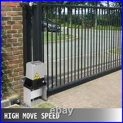 Automatic Sliding Slide Gate Opener Hardware Driveway 2200lbs Door Operator Kit