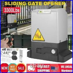 Automatic Sliding Slide Gate Opener Hardware Driveway 3300LBS Door Operator Kit