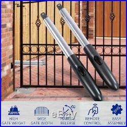 Automatic Sliding Slide Gate Opener Hardware Driveway Door Operator Kit Dual Arm
