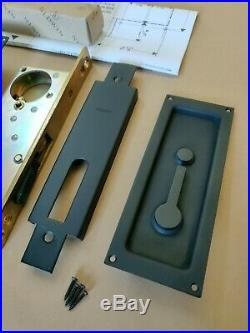 BALDWIN SANTA MONICA MORTISE SLIDING POCKET Door Hardware Satin Black 8585.190
