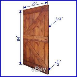 Barn Door Slab Hardware Kit 72 in. X 84 in. Double Sliding Red Walnut Finish