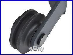 Black Sliding Barn Wooden Door Hardware Rustic Steel Roller Replacement Bracket