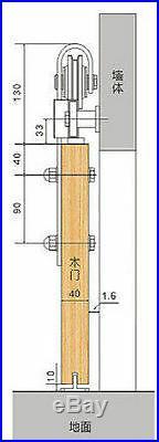 Black rustic sliding barn door hardware straight roller sliding track kit 5-16FT
