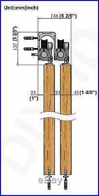 Bypass Sliding Barn Door Hardware Stainless Steel Bypass Top Mount Barn Door Kit