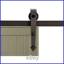 CALHOME 72 Antique Bronze Arrow Barn Sliding Door Track and Hardware Set NOB