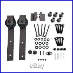 CALHOME Classic Bent Strap Barn Style Sliding Door Track and Hardware Set 60 in