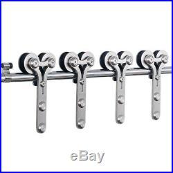 CCJH 4-20FT Stainless Steel Sliding Barn Door Hardware Closet Kit Single/Double