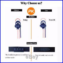 CCJH 6-12FT Black Sliding Barn Wood Door Hardware Closet Track Kit Single/Double