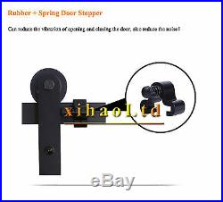 CCJH Country Antique Bypass Sliding Barn Door Hardware Closet Track For 4 Doors