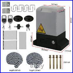 CO-Z 1800lbs Automatic Sliding Gate Opener Door Hardware Kit Security System