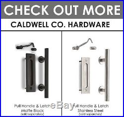 Caldwell Co. Heavy Duty Sliding Barn Door Hardware Kit 6.6ft Industrial Wheel