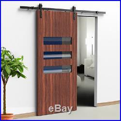 Carbon steel Sliding Wood Door Barn Door Hardware Track Rollers Kit J Shape