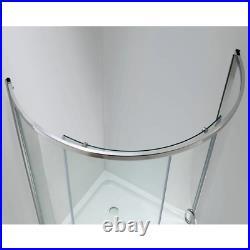 Corner Shower Kit 32-in. X 32-in. X 76 in. Reversible Door Acrylic Base Chrome