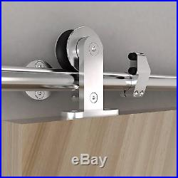 DIYHD 5FT-8FT Safety pin top mount sliding barn door stainless steel hardware