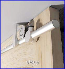 DIYHD 5FT ceiling mount stainless steel sliding barn wood door hardware