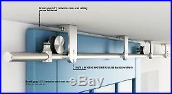 DIYHD 5-8FT Stainless Steel Flat Roller Ceiling Mount Sliding Barn Door Hardware