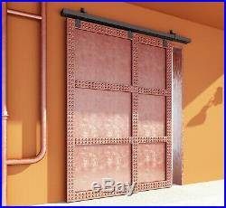 DIYHD Black Box Track Heavy Duty Bypass Exterior Sliding Barn Door Hardware
