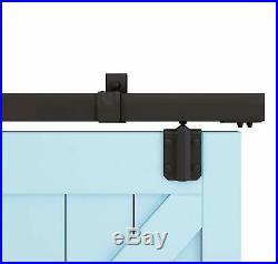 DIYHD Box Rail Heavy Duty Barn Hardware Interior Outside Door Sliding Track Kit