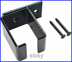 DIYHD Ceiling Mount Box Track Double Sliding Barn Door Hardware Kit, Black