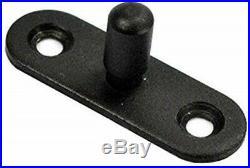DIYHD Double Sliding Barn Door Hardware White Coating Track Kit with Black Bolts