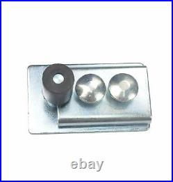 DIYHD Raw Material Galvanized Sliver Box Track Hardware for Exterior Barn Door