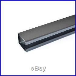 DIYHD smooth black box rail hardware heavy duty steel sliding barn door track