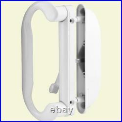 Door Handle Set White Latch Sliding Patio Mortise Lock Hardware Cast Metal