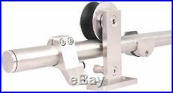 Door Hardware Track Set Modern Interior Sliding Barn Wooden Stainless Steel