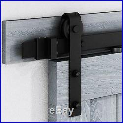 Double Door Sliding Barn Door Hardware Track Kit Fits 24 Wide Door (8 FT)