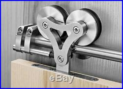 Double Roller Sliding Door Hardware Top Mounted Barn Stainless Steel