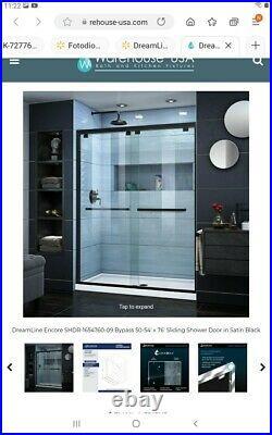 Dreamline Shower Door Hardware only statin Black Finish shdr-1654761-09