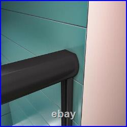 ELEGANT 48'' x 72 Bypass Sliding Shower Door Semi-Frameless Black hardware