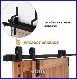 EaseLife 10FT Bypass Double Sliding Barn Door Hardware Kit