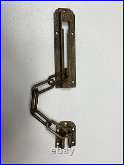 Eastlake-front Door-sliding Chain Lock-interior-victorian-antique Bronze