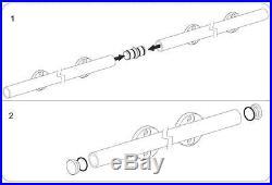Easy install top mount barn door hardware stainless steel sliding barn track set