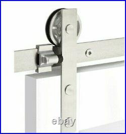 Emtek Flat Track Sliding Barn Door Hanging Hardware B110108. SD. FT. SS to 400lbs