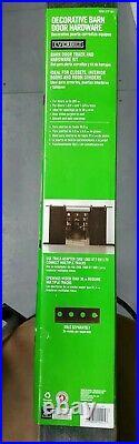 Everbilt 72 in. Dark Oil-Rubbed Bronze Strap Sliding Barn Door Track and Kit