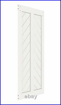 Fish Bone V Shape Sliding Barn Slab MDF Solid Core Primed Interior Door Panel