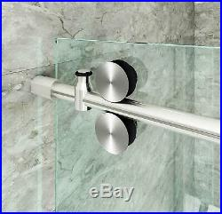 Frameless Stainless Steel Sliding Glass Track Sliding barn Shower Door Hardware