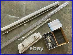 HARDWARE ONLY (NO GLASS) for Woodbridge MBSDC6076-B Model Shower Door 56 x 60