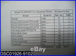 HARDWARE ONLY SHDR-0960580-04 Dreamline 56-60 Frameless Tub Door Hardware