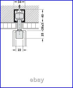 HAWA JUNIOR 80/B FITTING SET Sliding Door Hardware (1 Piece) 940.80.002