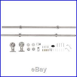 HOMCOM 6.6ft/200CM Stainless Steel Sliding Barn Door Hardware Kit Roller