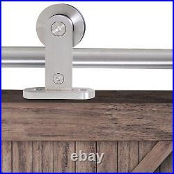 HOMCOM Wooden Sliding Door Kit Steel Operation Hardware Track For Door 2000mm