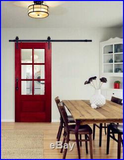 Hahaemall 6.6FT Sliding Barn Door Hardware Single Wood Door Track Hanger Kit New