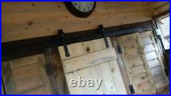Hand Forged Antique Iron Complete Spearhead Sliding Door Set 2m