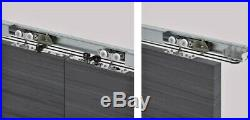 Hanging Double Sliding Door Hardware Rollers with Synchronization & Fixing System
