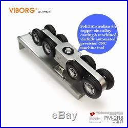 Hanging Sliding Door Closet Hardware Kit Wheels Roller Set With 1.5 meter track
